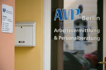 AVP Berlin Arbeits- und Personalvermittlung Eingang