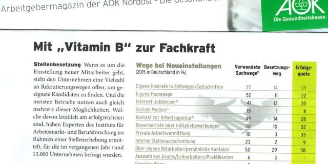 """Mit """"Vitamin B"""" zur Fachkraft – Private Arbeitsvermittlungen arbeiten effektiv!"""